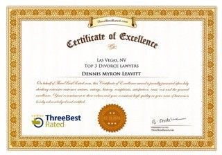 Certificate of Excellence: ThreeBest Rated: Dennis Myron Leavitt